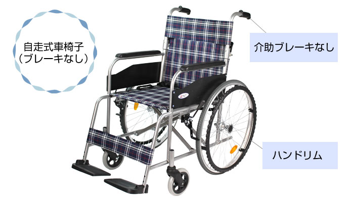 自走式車椅子(介助ブレーキなし)