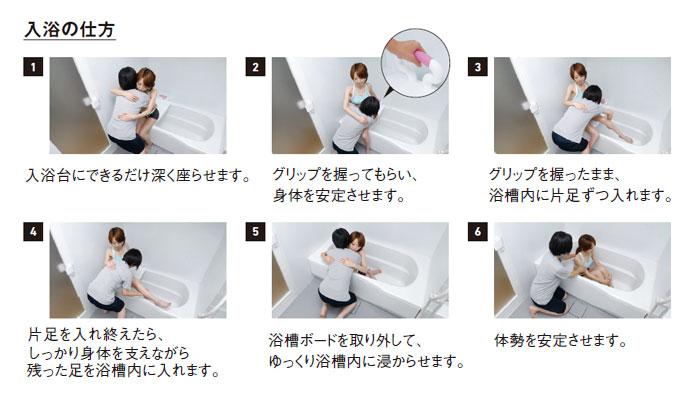 テイコブコンパクト浴槽手すりYT01の入浴の仕方