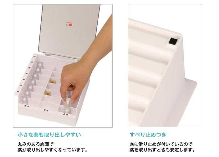 テイコブMyカルテくすり整理ボックス HEC04[ピルケース] [生活支援用品]の機能